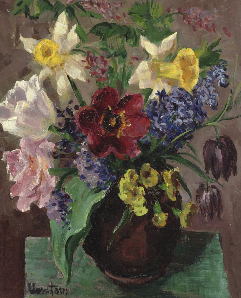 Mogens Vantore (Danish 1895-1977) 'Spring Flowers'