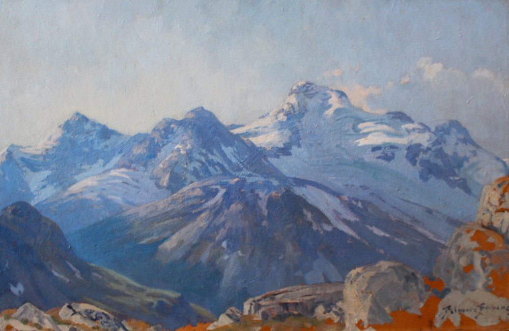 Belmore Browne (American/Canadian 1880-1954) 'Mountain Landscape'