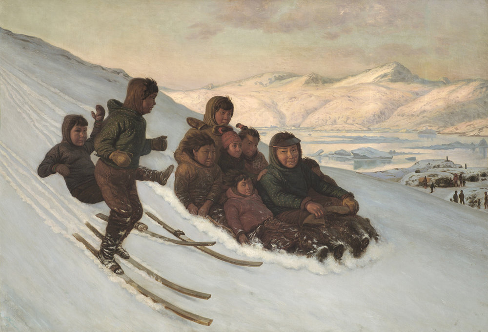 Carl (Jens Erik C.) Rasmussen (Danish 1841-1893) 'The Ride Home, Greenland'