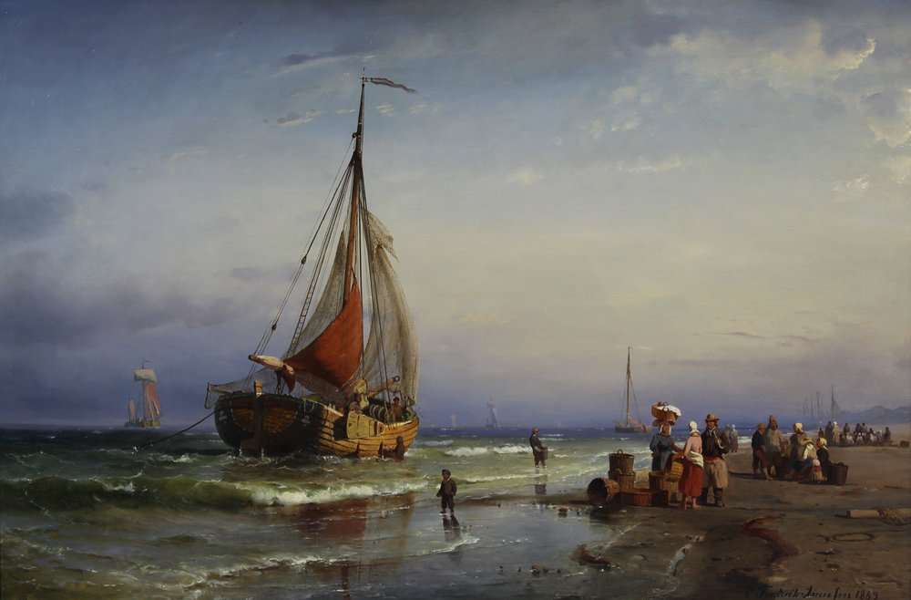 Carl F. Sorensen (Danish 1818-1879) 'Early Morning, Ostende'