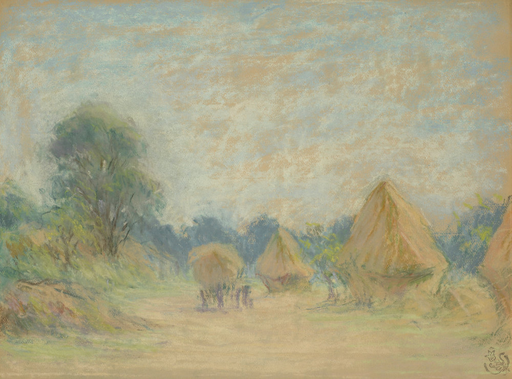 Claude Emile Schuffenecker (French 1851-1934) 'Haystacks'