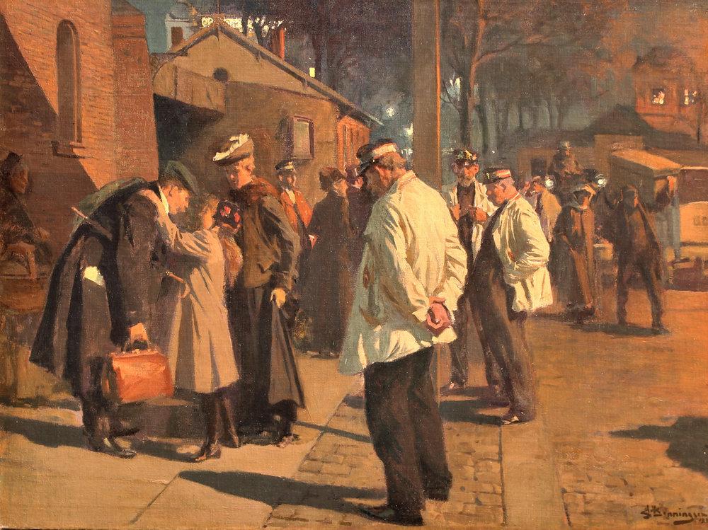 Erik Ludwig Henningsen (Danish 1855-1930) 'The Return Home'