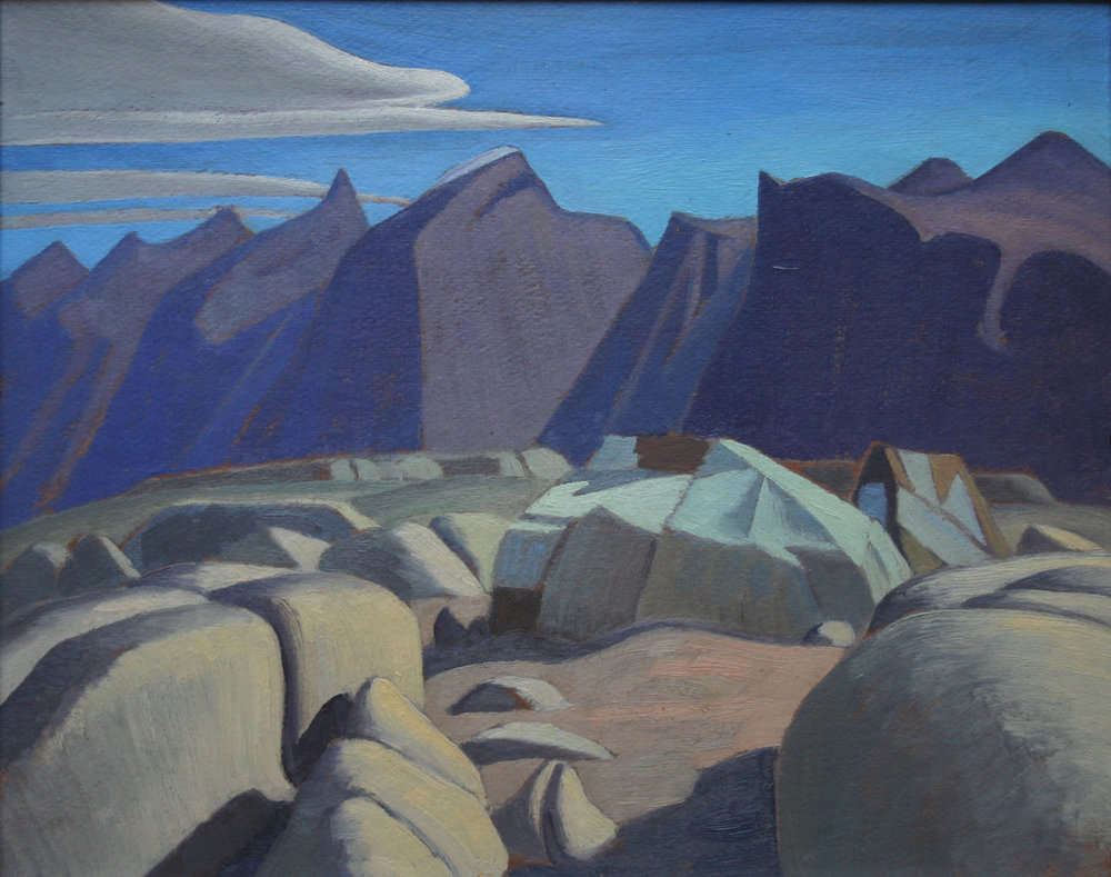 Lawren Harris (Canadian 1885-1970)  'Eskimo Tents, Pangnirtung, Baffin Island'