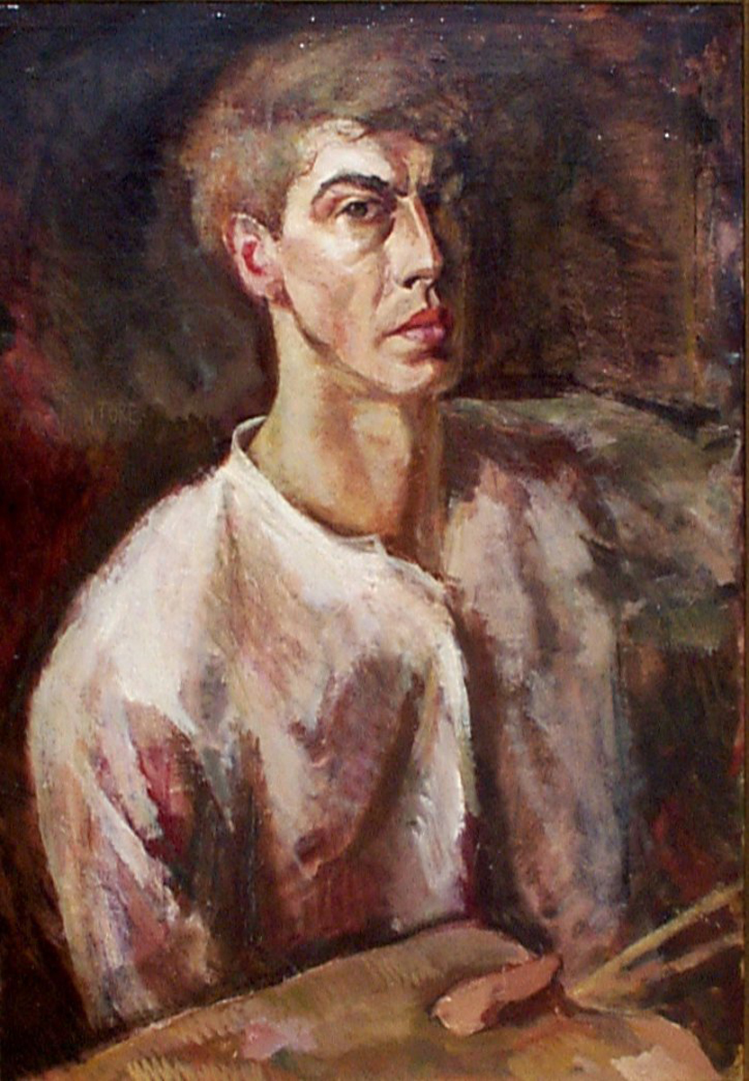 Mogens Vantore (Danish 1895-1977) 'Self Portrait'