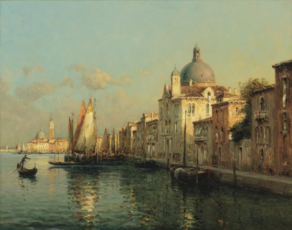 Auguste Bouvard/Marc Aldine (French 1882-1956) 'Le Port A Venise'