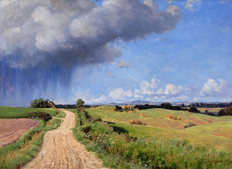 Viggo Pedersen (Danish 1854-1926) Summer Showers 1887