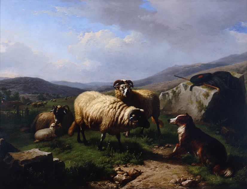 Eugene Verboeckhoven (Belgian 1798-1881) The Misunderstanding, 1863