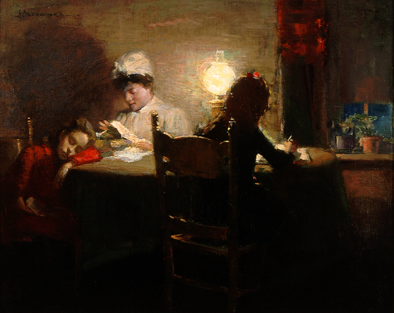 Peleg Franklin Brownell (Canadian 1857-1946) Homework