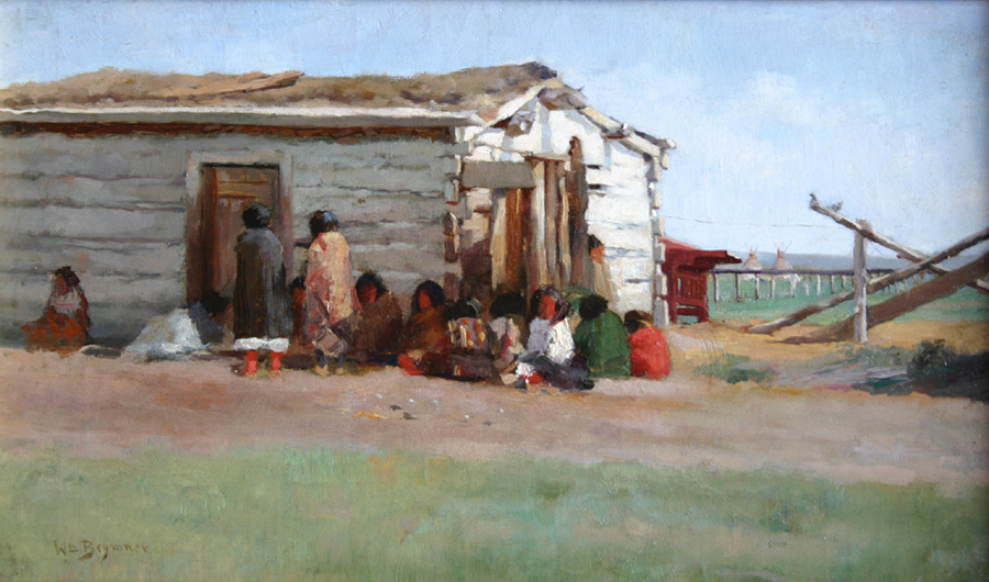 William Brymner (Canadian 1855-1925) An Indian School