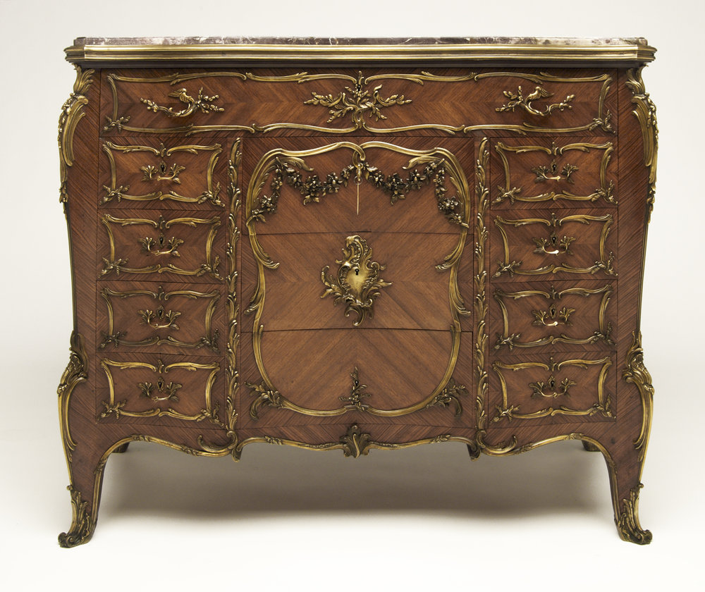 Francois Linke (French 1855-1946) Commode Louis XV A 12 Tiroirs