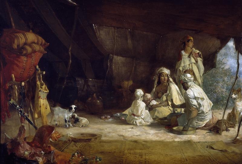 Gustave Achille Guillaumet (French 1840-1887) Interieur D'une Tente, Frontiere Du Marae Algerie