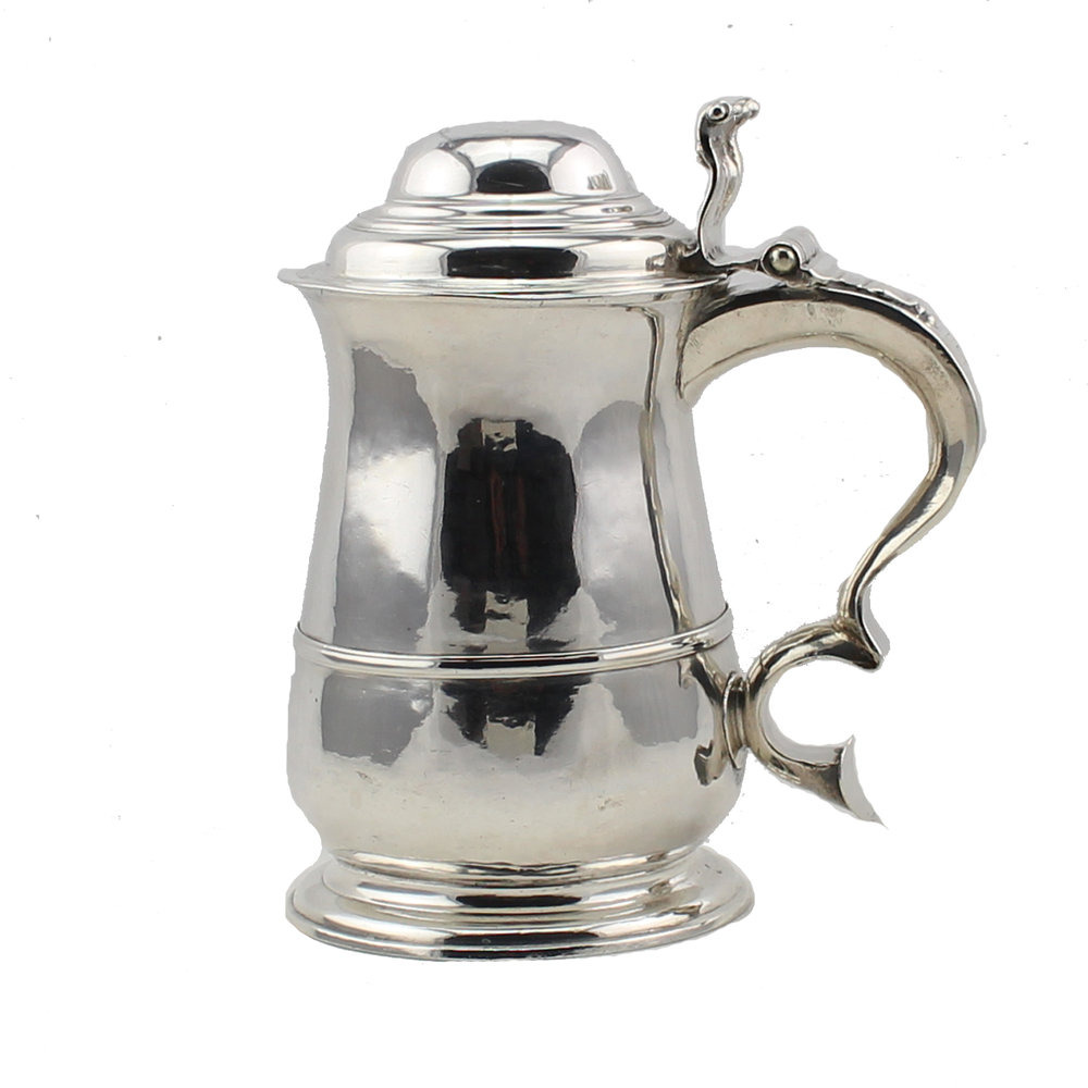 George II Sterling Silver Tankard, Jonathan Fossy, London 1740