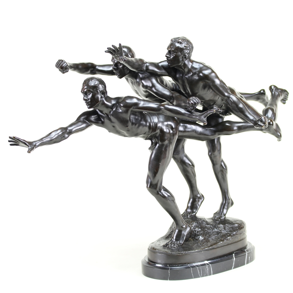 Alfred Boucher (French 1850-1934)' Au But! (To the Goal!)' Bronze