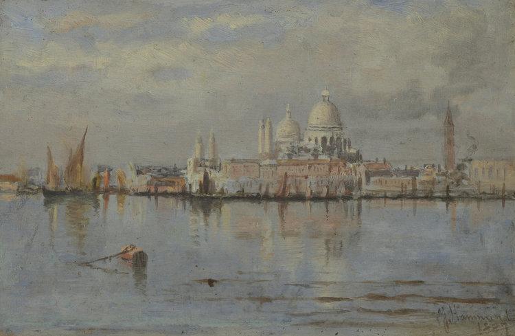John A. Hammond (Canadian 1843-1939) 'Venice, St. Maria Della Salute'