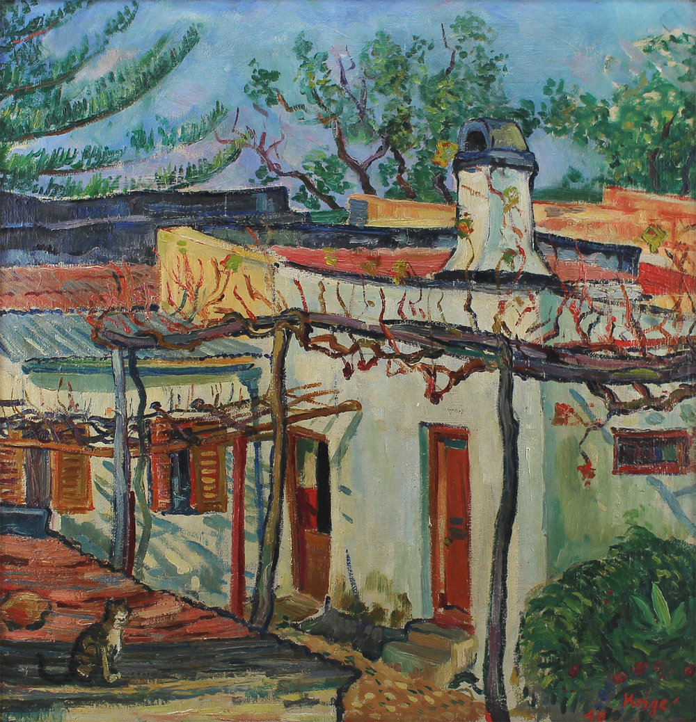 Francois Krige (South African 1913-1994) 'House and Garden'