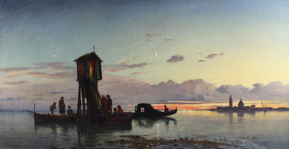 Hermann David Salomon Corrodi (Italian 1844-1905) 'Shrine at Venice, Sundown'