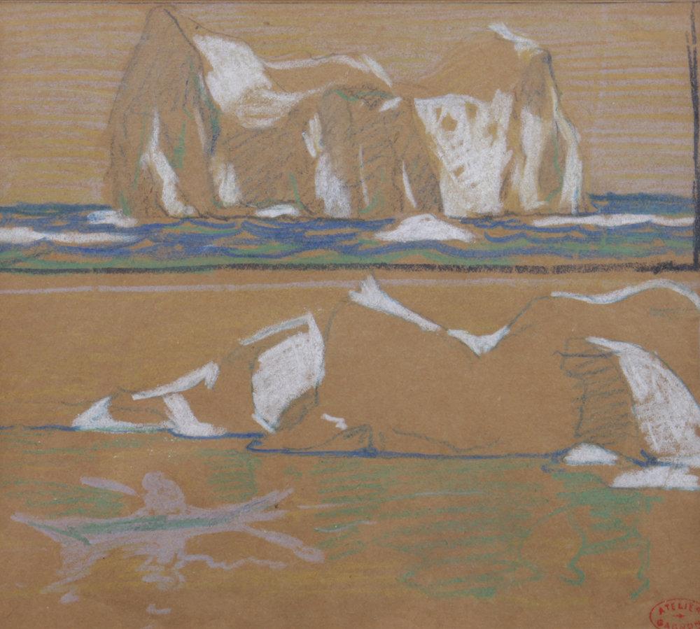 Clarence A. Gagnon (Canadian 1881-1942) 'Projet Pour Illustrer Le Grand Silence Blanc'