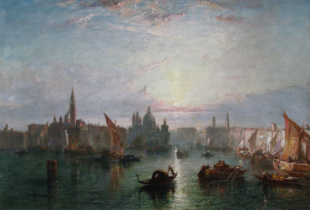 Edward Alfred Goodall (British 1819-1908) 'Towards Evening, Venice'