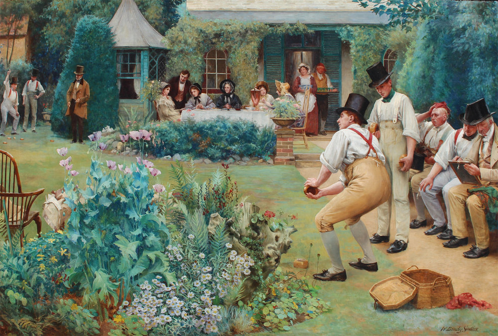 Walter Dendy Sadler (British 1854-1923) 'A Game of Bowls'