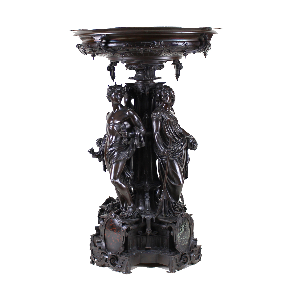 Bronze Cast Centerpiece, Circa 1890
