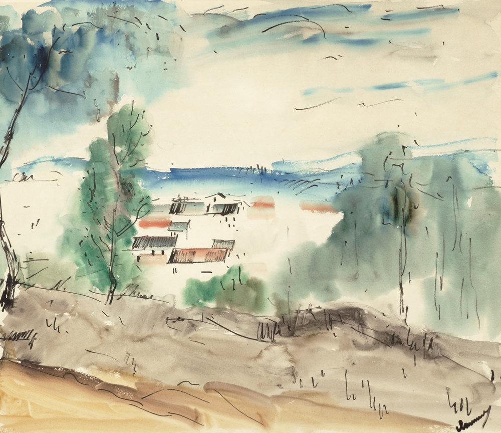 Maurice De Vlaminck (French 1876-1958) 'Provencale Landscape'