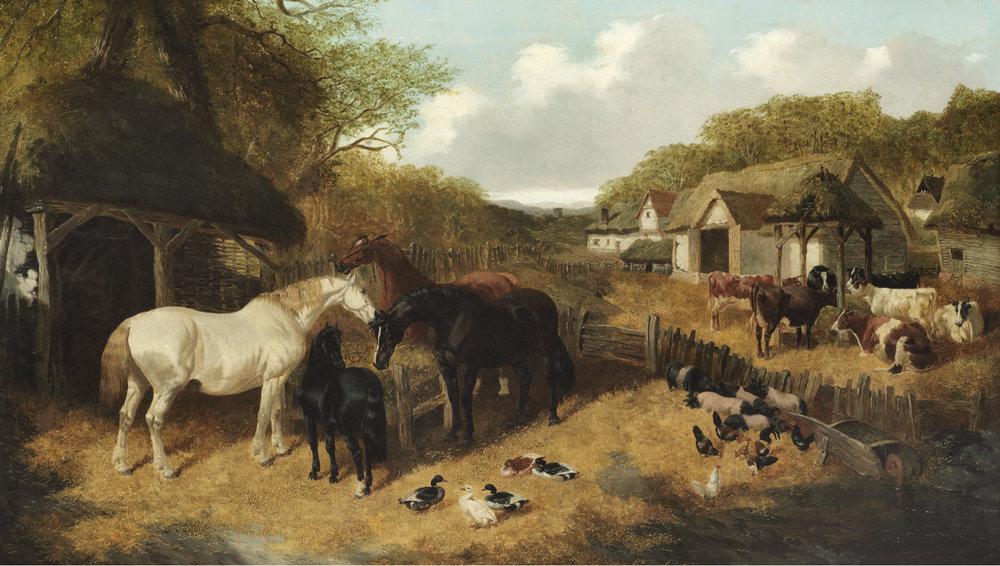 John Frederick Herring Jnr. (British 1820-1907) 'Farmyard Scene'