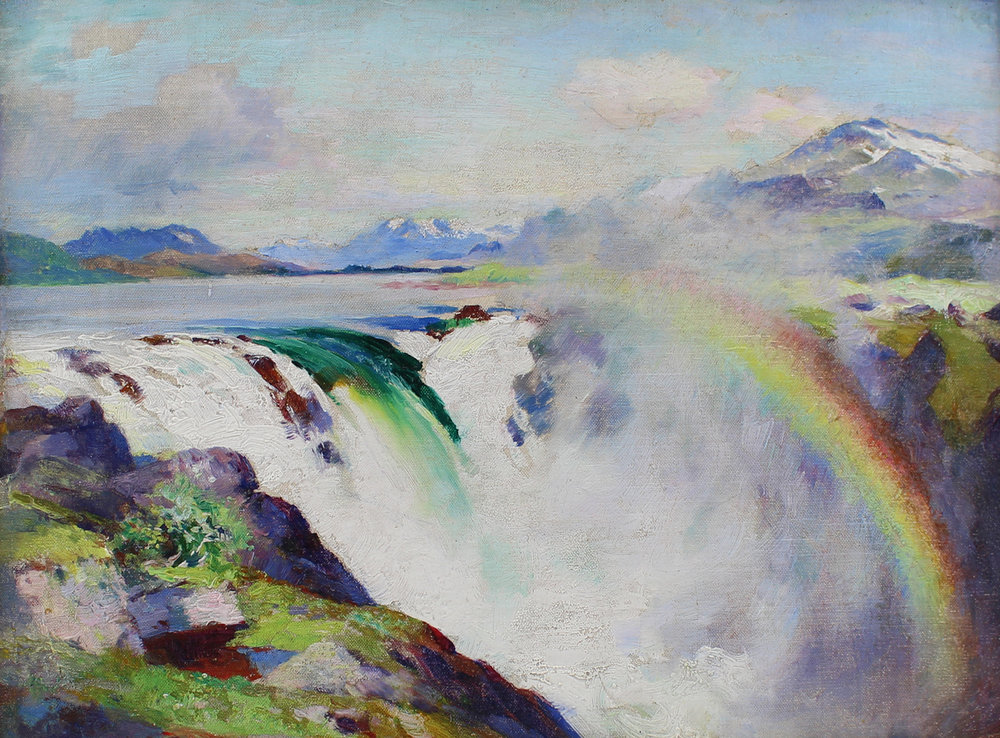 William Blair Bruce (Canadian 1859-1906) 'The Great Lake Waterfall'