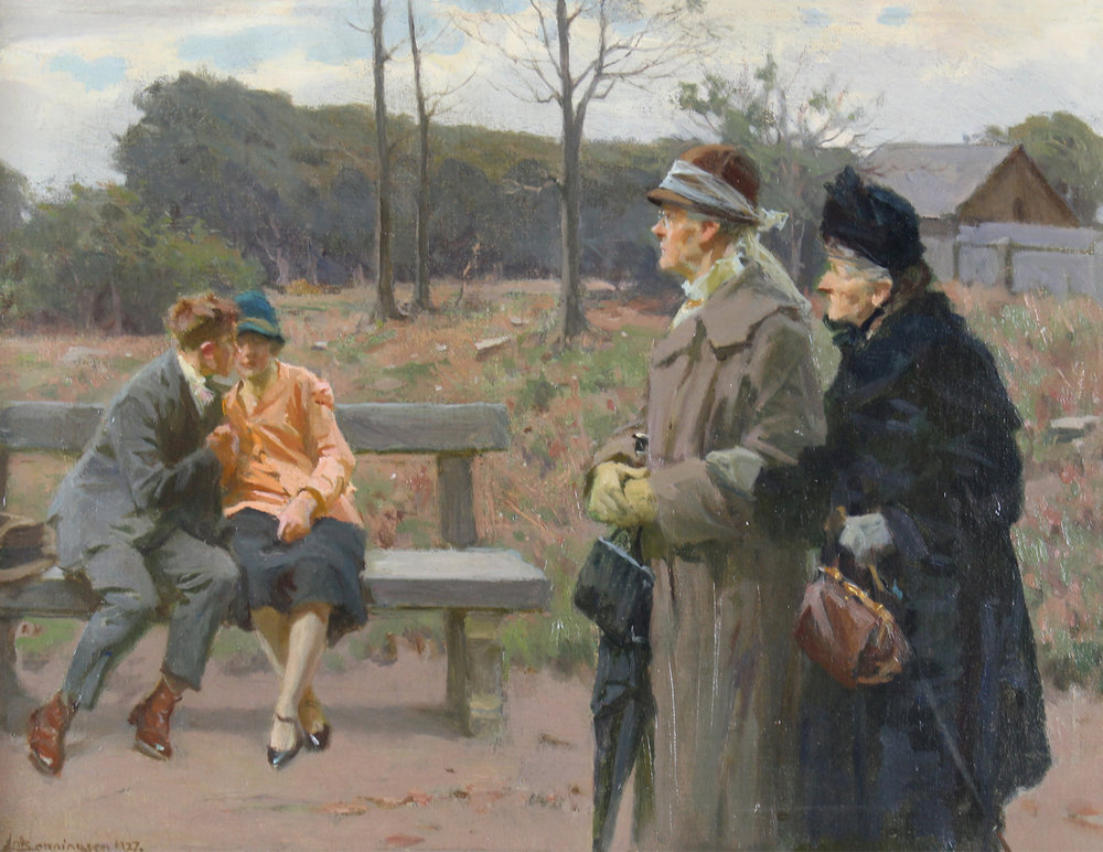 Erik Ludwig Henningsen (Danish 1855-1930) 'Spinsters'