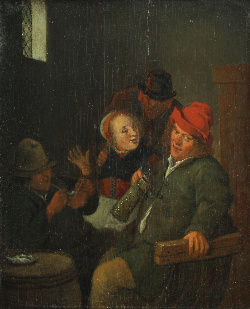 Jan Miense Molenaer (Dutch c.1610-1668) 'A Tavern Scene'