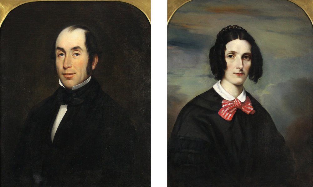 Willem Hamel (Dutch 1860-1924)Pair of Portraits of Isabella & William Baldwin.jpg