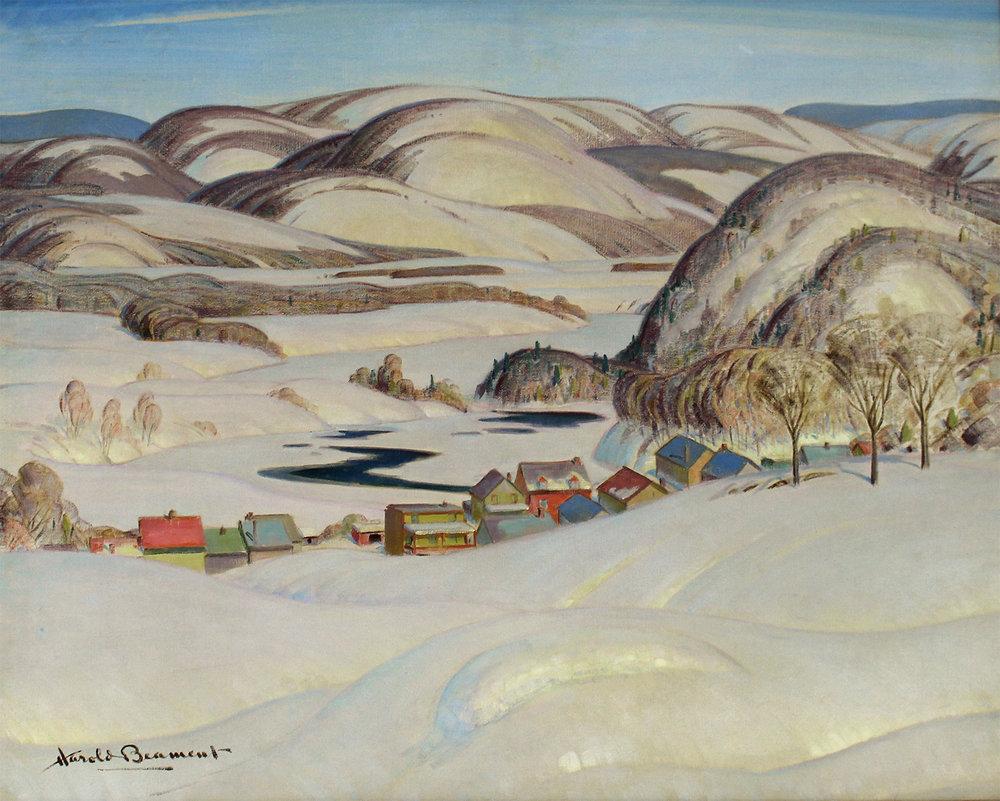 Thomas Harold Beament (Canadian 1898-1984)Spring, Laurentian Village