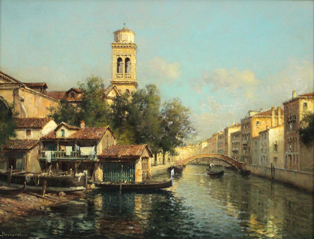Auguste Bouvard/Marc Aldine (French 1882-1956) Venetian Canal