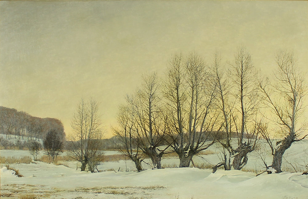 Ole Ring (Danish 1902-1972) 'Winter Motif Near Tasinge'