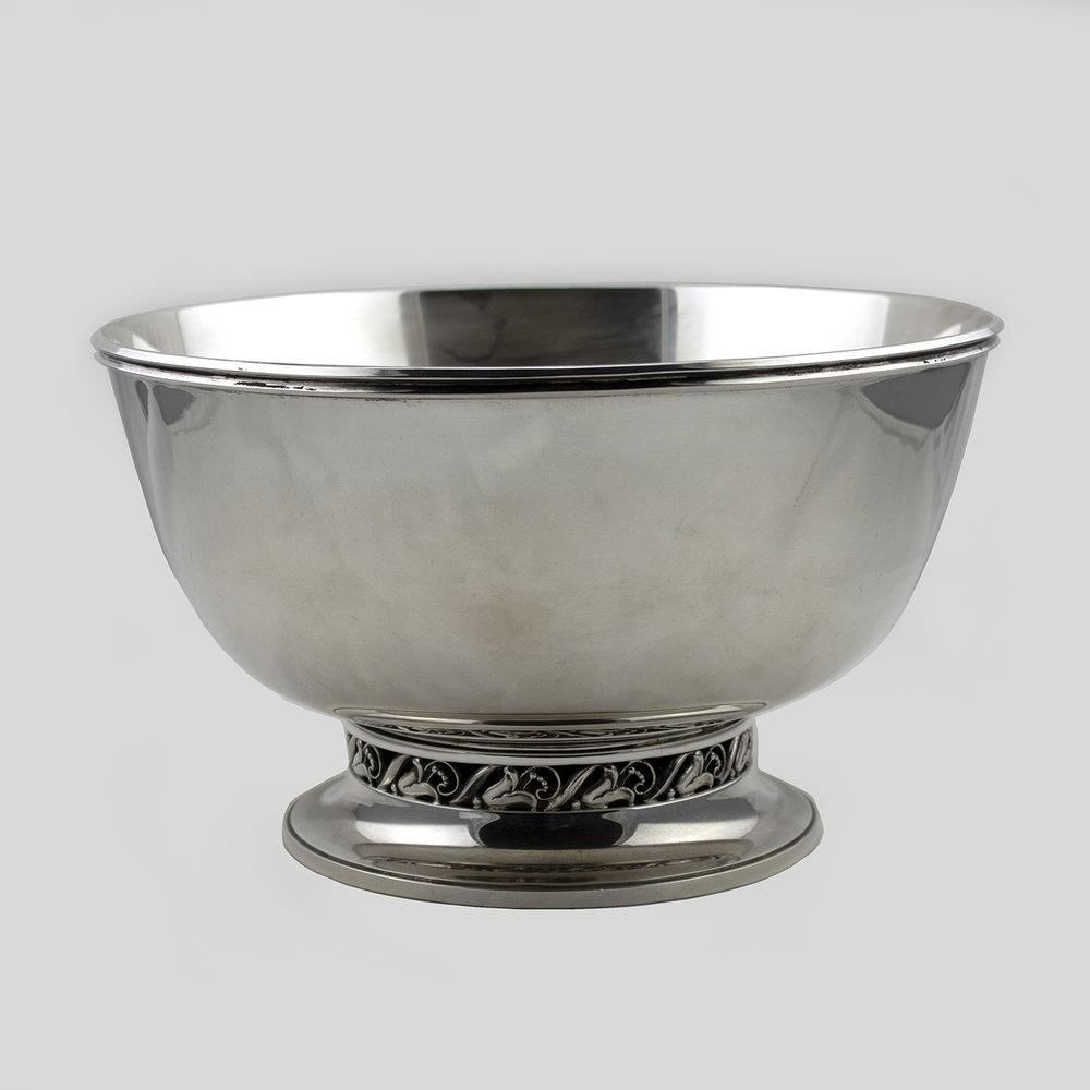 La Paglia Bowl Design #139 35-1Stunning large sterling silver centerpiece bowl