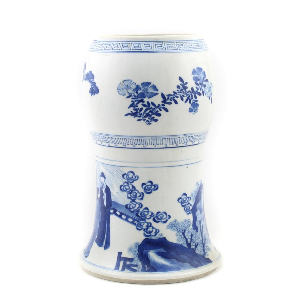 Chinese Blue and White 'Yen Yen' vase, Kangxi Period (1662-1722)