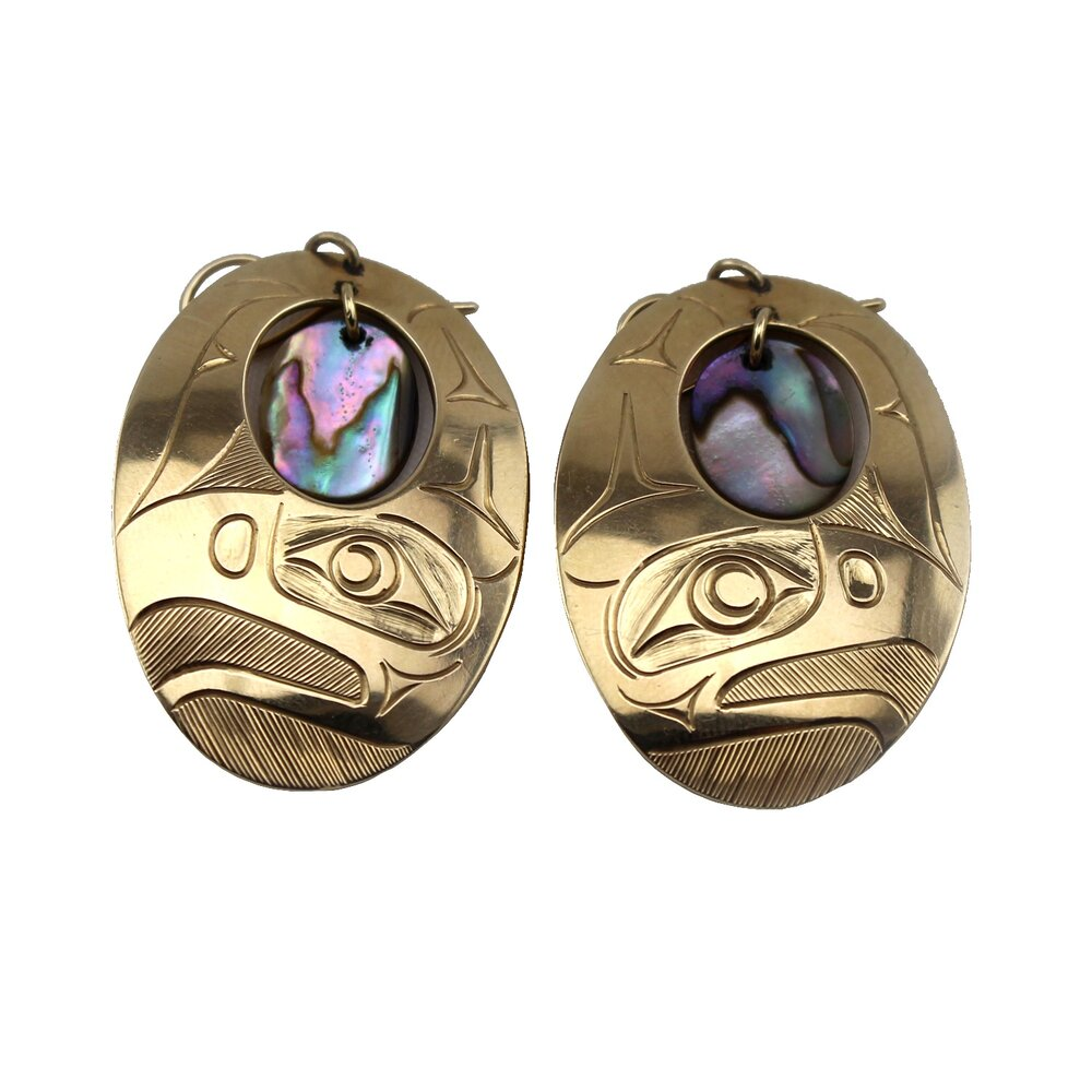Corrine Hunt (Canadian born 1959) 'Pair of Gold 14K Earrings'
