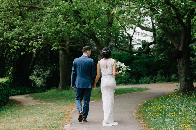 Amita and Pete Walking with bouquet.jpg