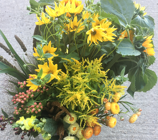 Yellow florists bucket.jpg