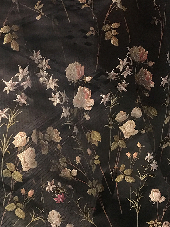 Floral Embroidery on Silk