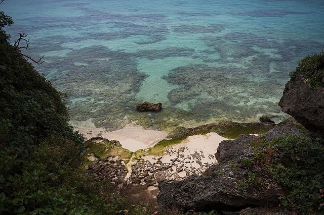 23 km of island. Ie island, Japan.