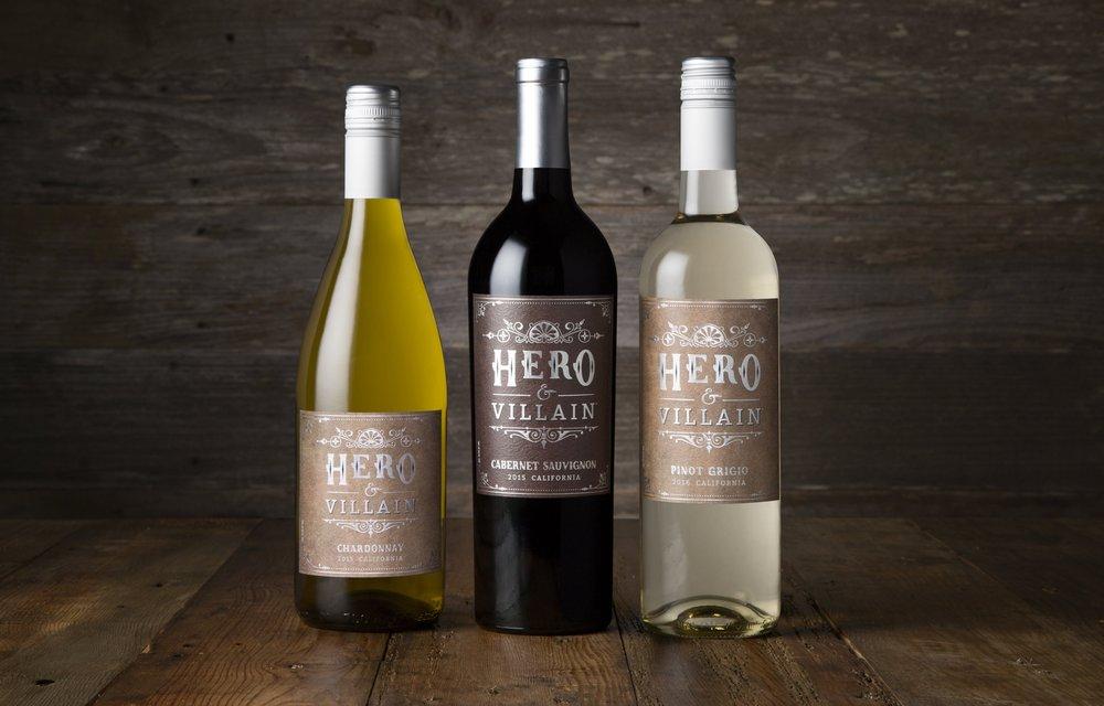 Sonoma Bottle - wine bottle shot photography - Fetzer - Hero & Villain custom gr