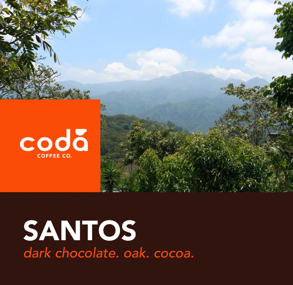 Coda Coffee Company Santos Coffee Blend