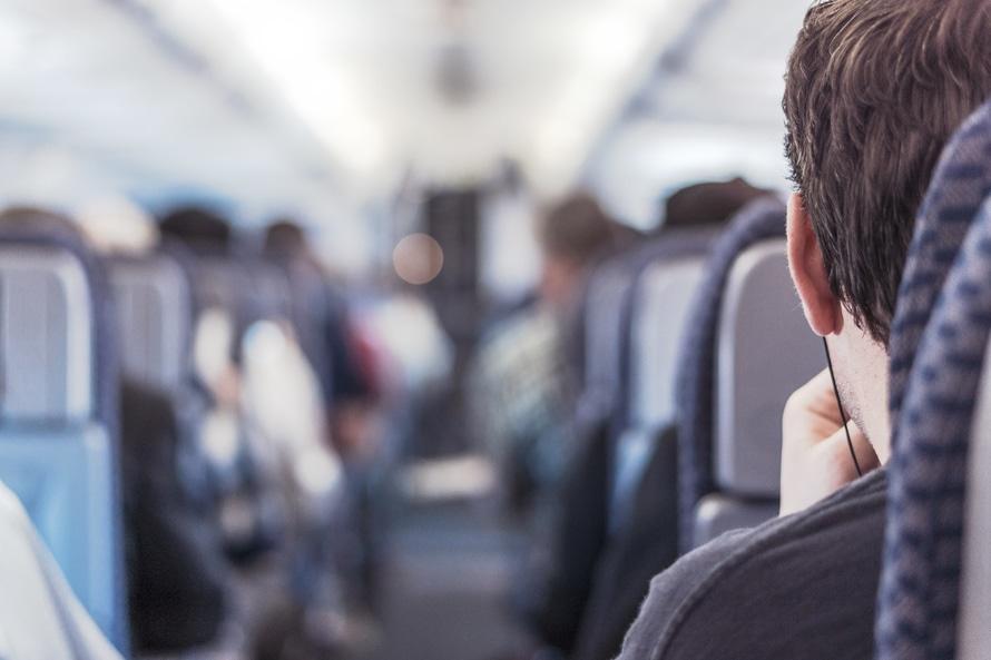 Passenger On A Plane