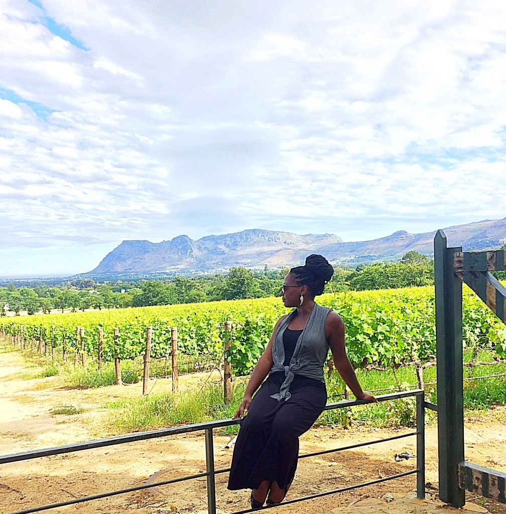 Girl at a winery