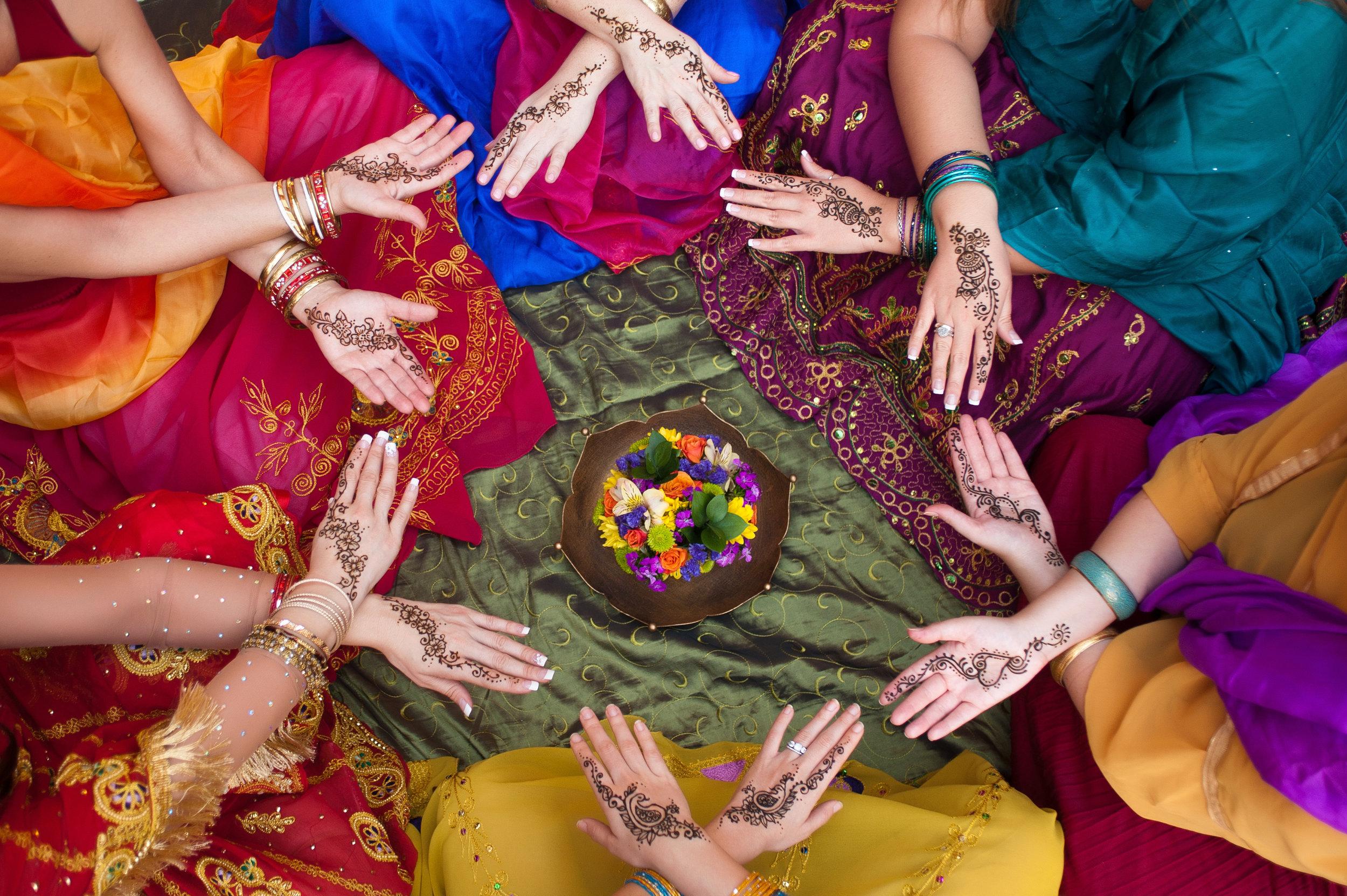 women, circle, community, henna, hands, travel develops empathy