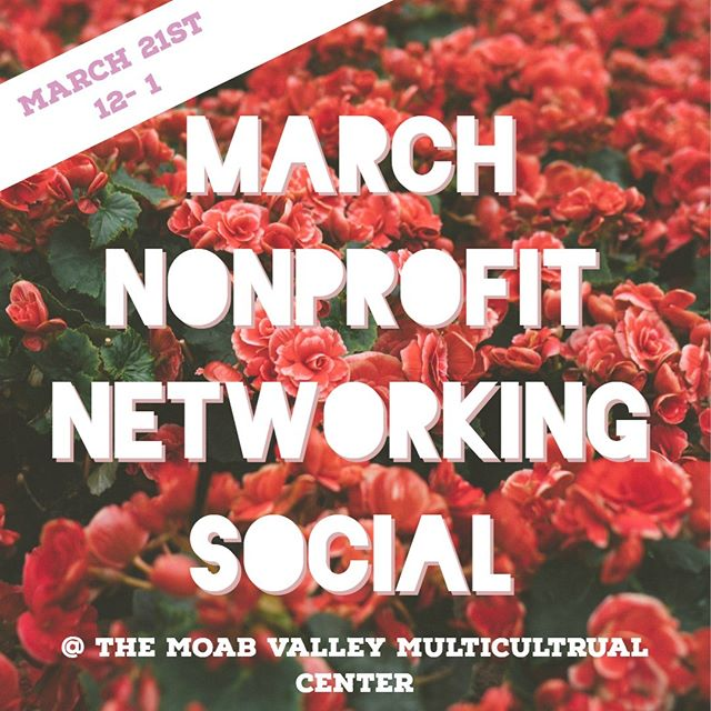 THIS Thursday we will be having our monthly Nonprofit Networking Social at the @moabmc Moab Valley Multicultural Center!! Representatives from any nonprofit are welcome to join us for snacks, organizational updates, and sunshiny fun :) #wabisabi #nonprofitnetworking #thisweek #thursday #moab #moabmc