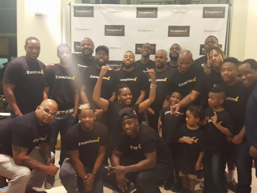 Men of The ExceptionAL Project at the Book Release and Signing  at the Schombug Center for Research in Black Culture