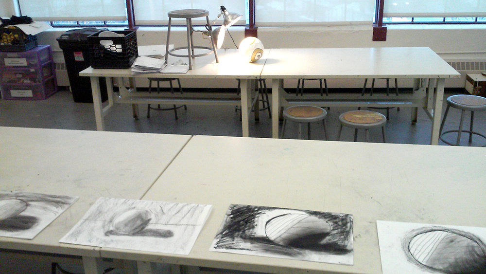 Drawing class. Grades 6 - 8.