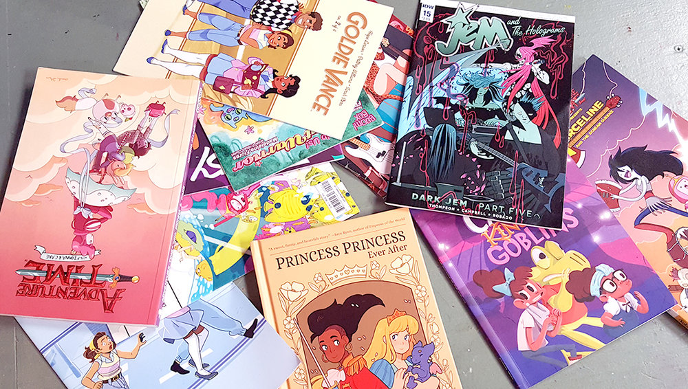 Some of the comics I bring to my classroom.