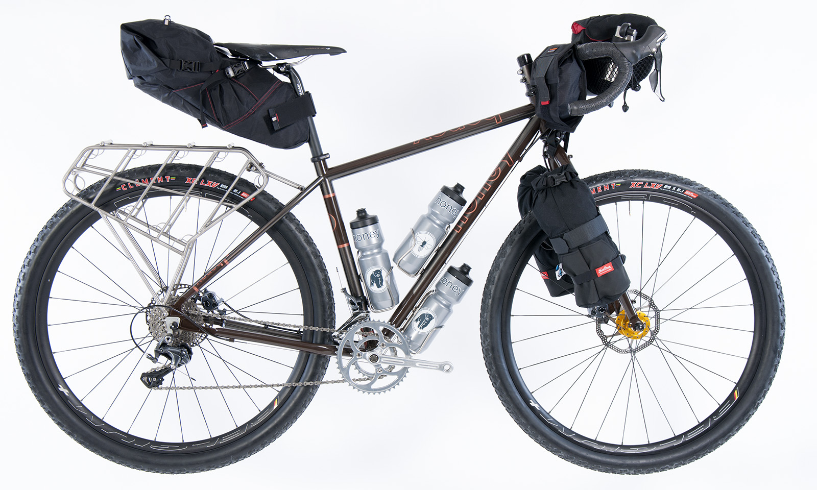 Packmule side seat, bar, fork bags